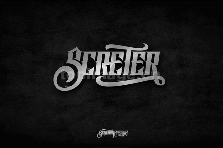 Screter哥特式质感个性海报英文字体下载