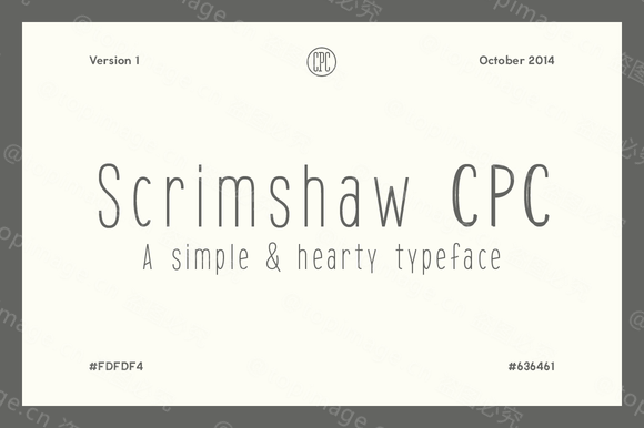 ScrimshawCPC手写文艺纤细英文字体下载