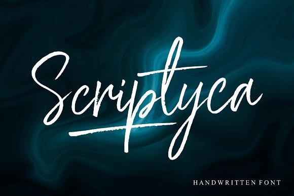 Scriptyca创意海报手写连笔英文字体下载