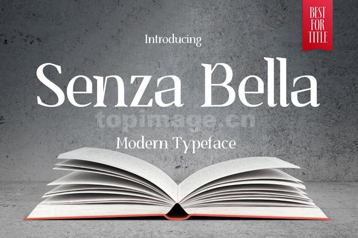 SenzaBella个性化衬线艺术好看的英文字体下载