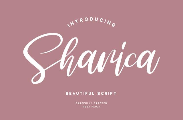 Sharica时尚手写电商标题英文字体下载