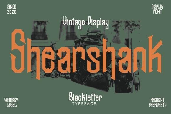 Shearshank哥特复古纹身英文字体下载