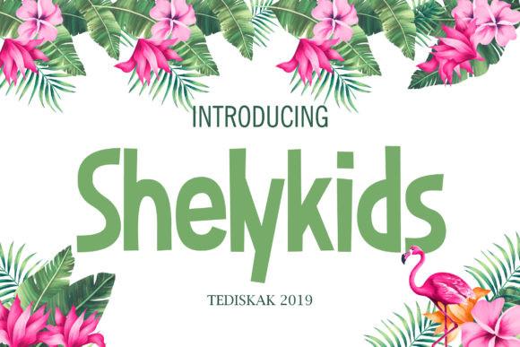 Shelykids现代英文logo好看的英文字体下载