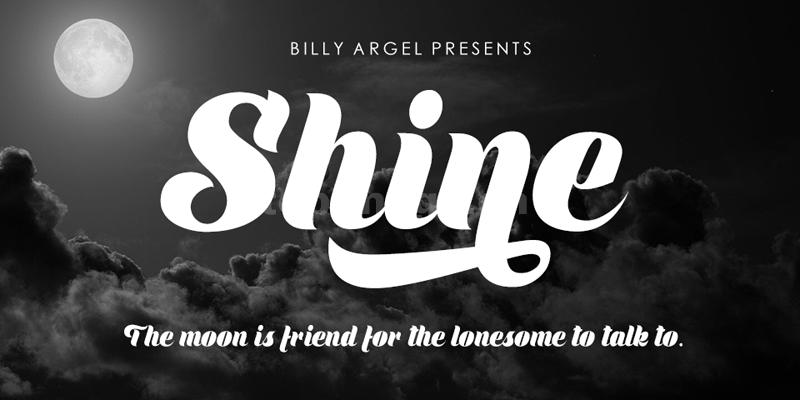 Shine手写书法连笔大气好看的英文字体下载