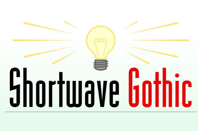 ShortwaveGothic现代细长logo英文字体下载