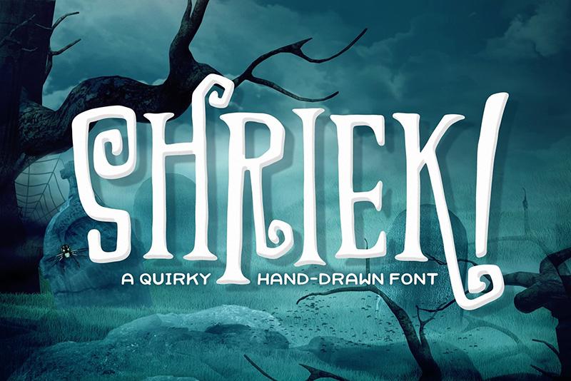 Shriek个性游戏英文字体下载