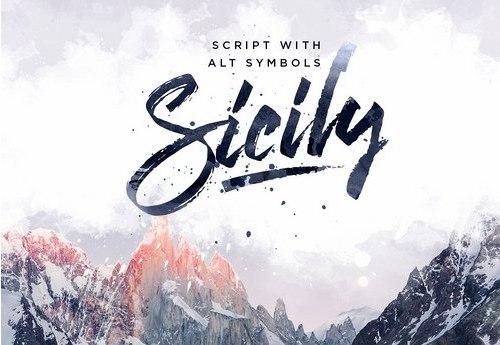 Sicily书法笔触英文字体下载