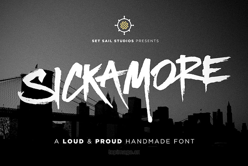 SickamoreDisplay游戏主题个性街头海报英文字体下载