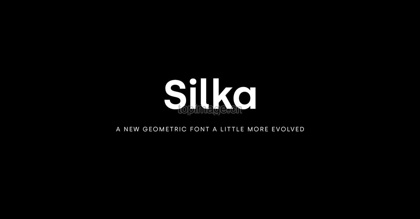 Silka现代无衬线简洁logo英文字体下载