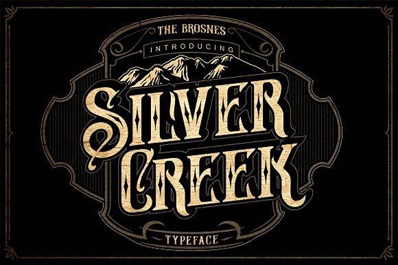Silver Creek哥特个性纹身游戏字体下载
