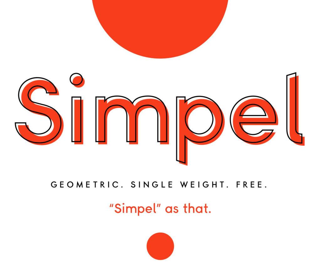 Simpel现代简约时尚logo英文字体下载