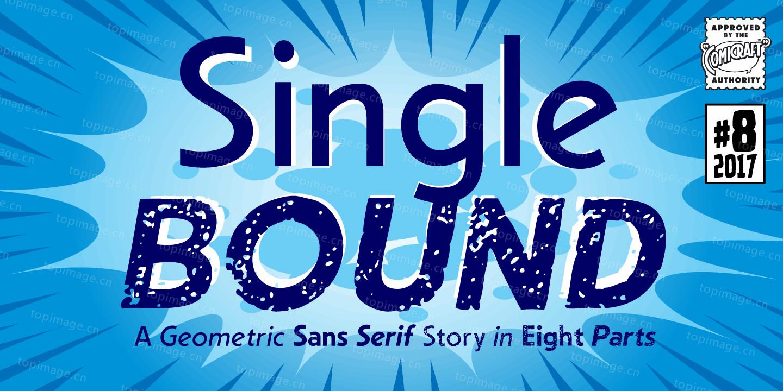 Single Bound圆润现代好看的英文字体下载
