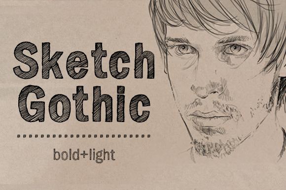 Sketch Gothic素描手写手绘英文字体下载