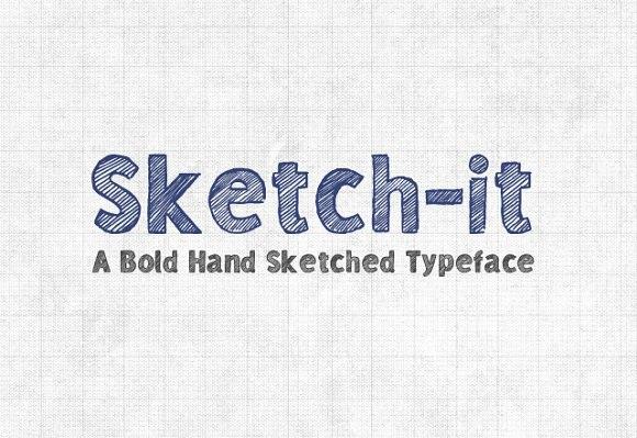Sketchit手绘海报手写线性底纹英文字体下载