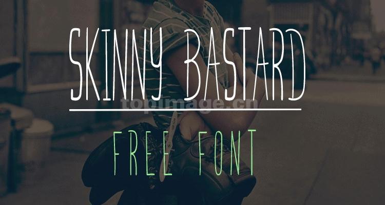 Skinnybastard细长卡通手写英文手绘字体下载