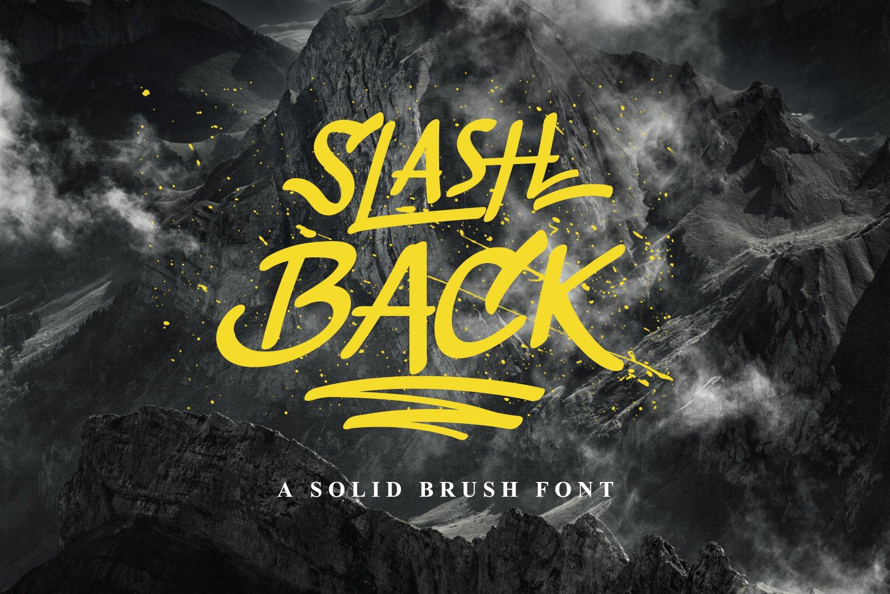Slashback个性大片海报笔刷手写英文字体下载