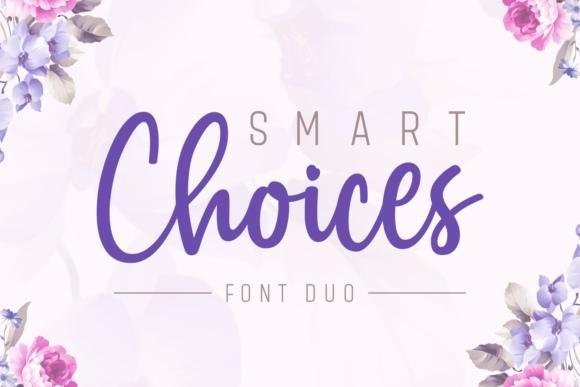Smart Choices手写唯美连笔英文字体下载
