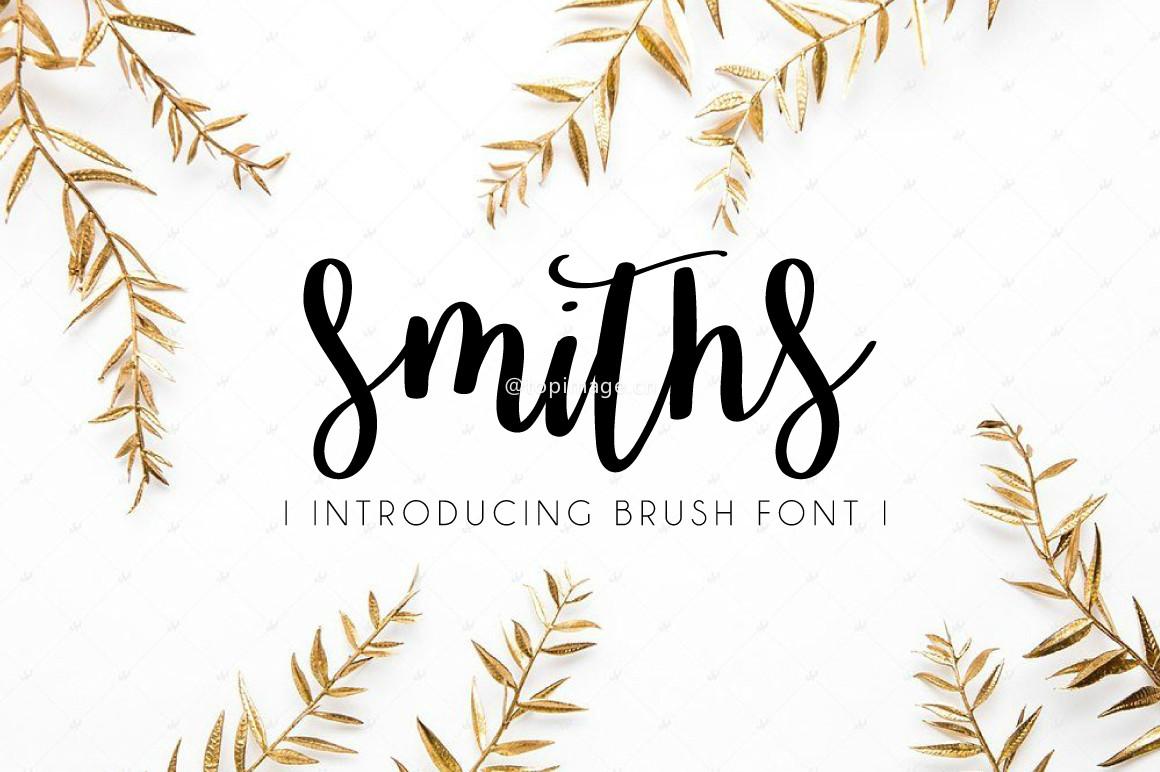 Smiths唯美好看文艺手写连笔英文字体下载