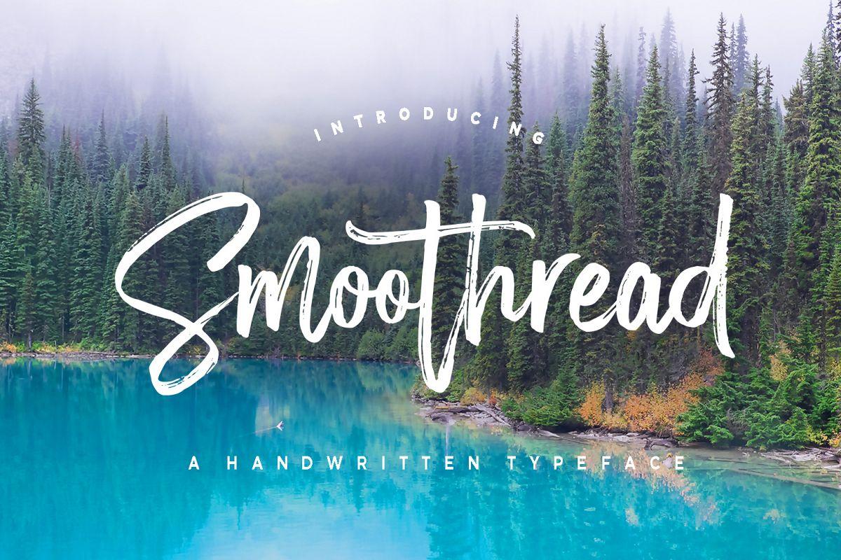 Smoothread手写书法笔触英文字体下载