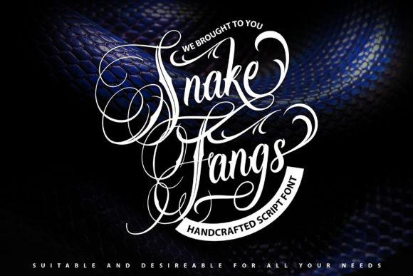 SnakeFangs奇卡诺纹身哥特英文字体下载