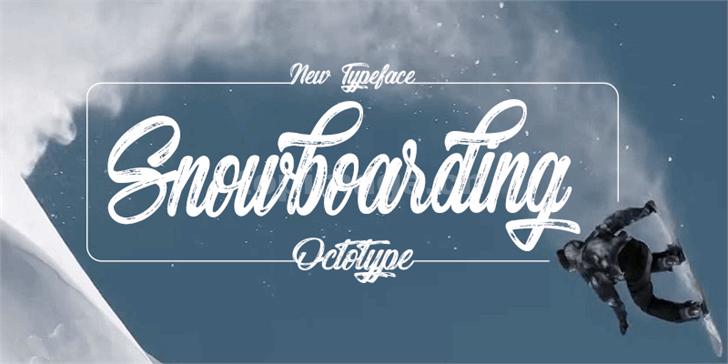Snowboarding手写破损纹理笔刷书法英文艺术字体下载