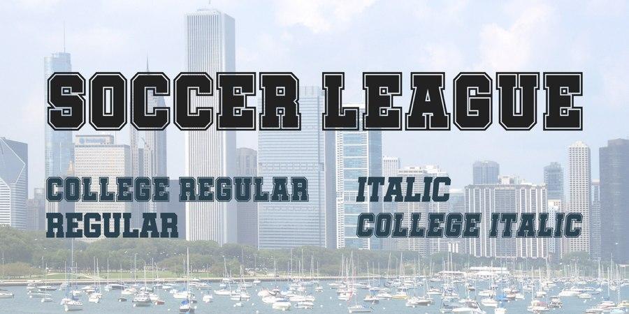 SoccerLeague篮球服足球衣数字号码logo英文字体下载