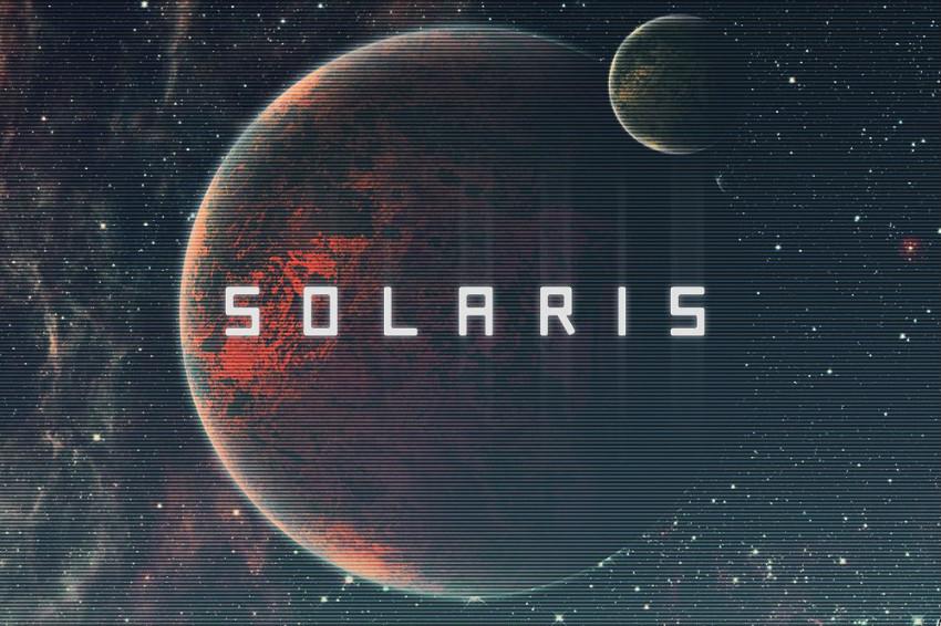 Solaris现代无衬线科幻logo英文字体下载