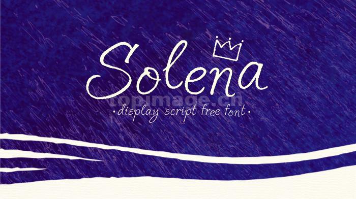 Solena唯美个性连笔艺术好看英文手绘字体下载
