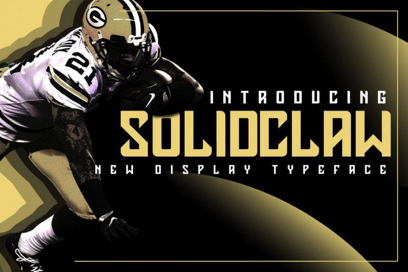 Solidclaw创意体育运动英文字体下载