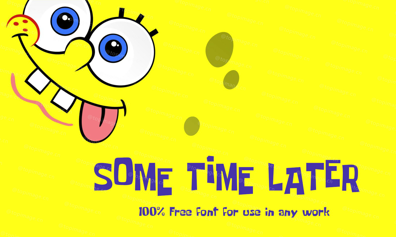 Some Time Later卡通可爱的英文字体下载