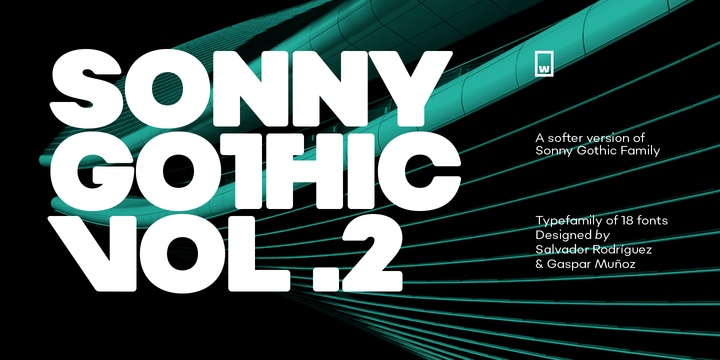 Sonny科技商务海报主题logo粗英文字体下载
