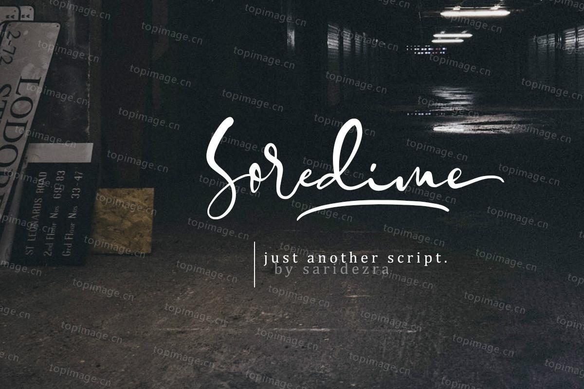 Soredime手写签名艺术英文字体下载