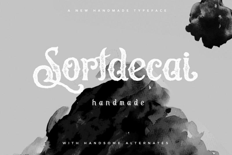 Sortdecai个性手写哥特纹理英文字体下载