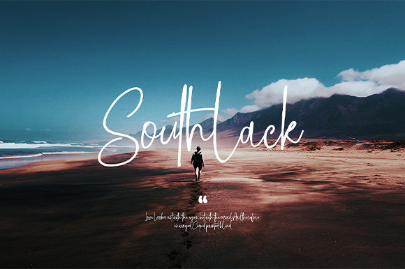 Southlack网红手写签名英文字体下载