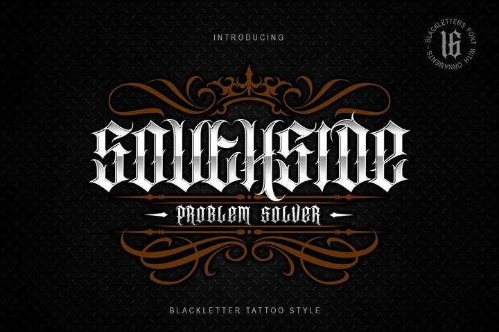 Southside哥特奇卡诺纹身个性游戏英文字体下载