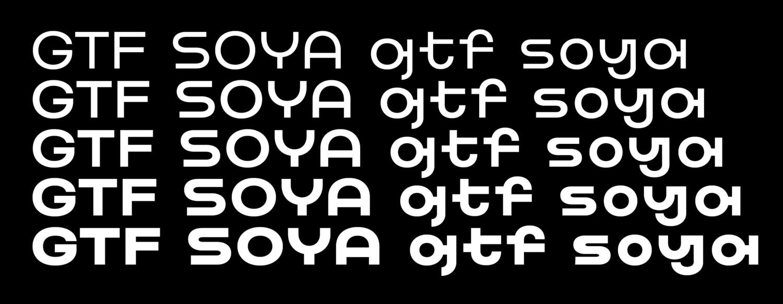 Soya现代无衬线logo排版设计师英文字体包下载