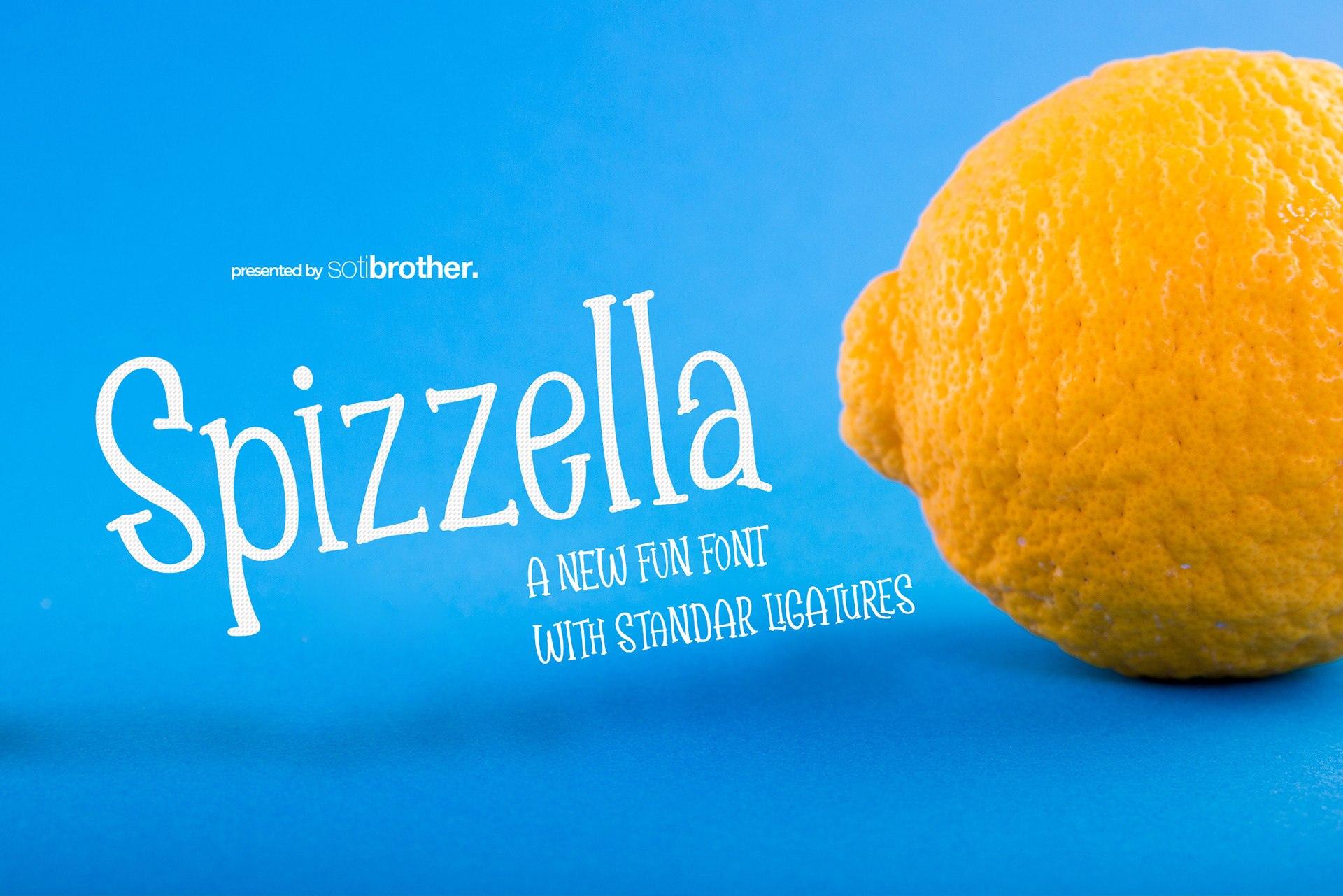 Spizzella个性创意造型卡通好看的英文字体下载