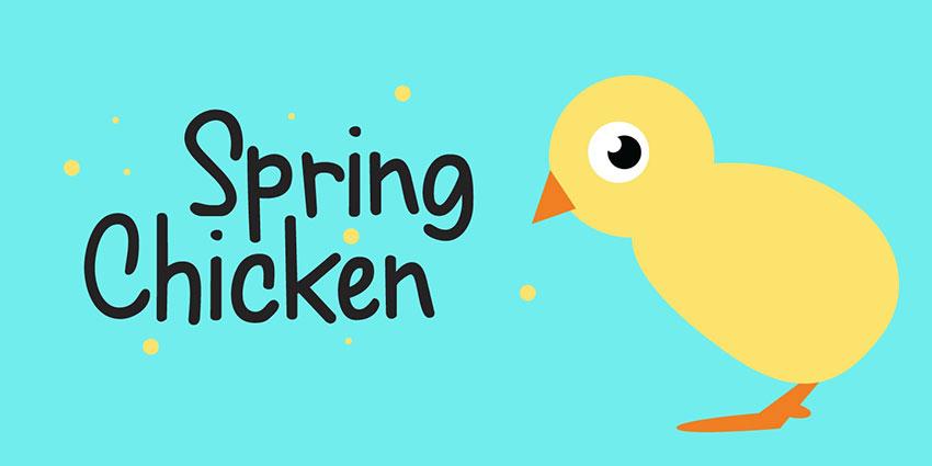 Spring Chicken手写卡通趣味英文字体下载