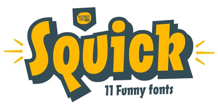 Squick可爱卡通涂鸦logo英文字体下载