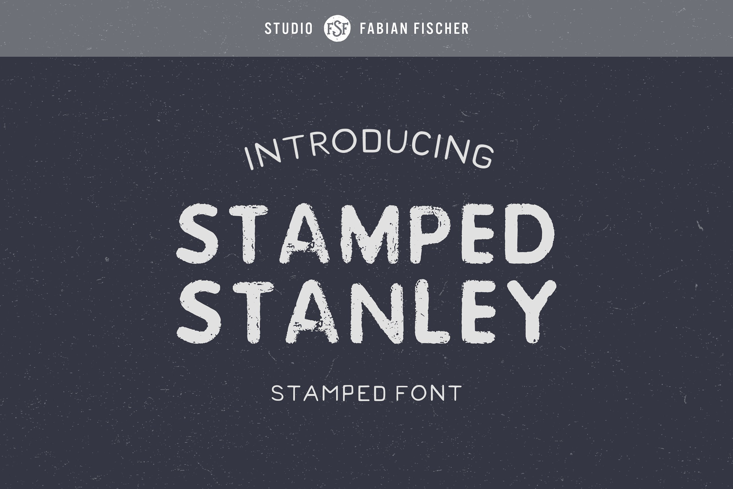 StampedStanley手写手绘纹理现代英文字体下载