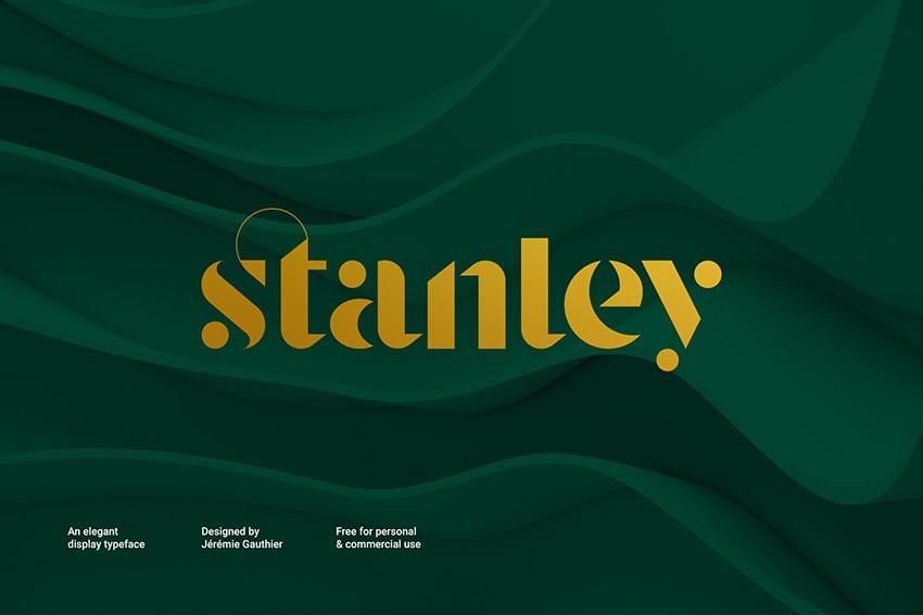 Stanley衬线时尚服装名片英文字体下载