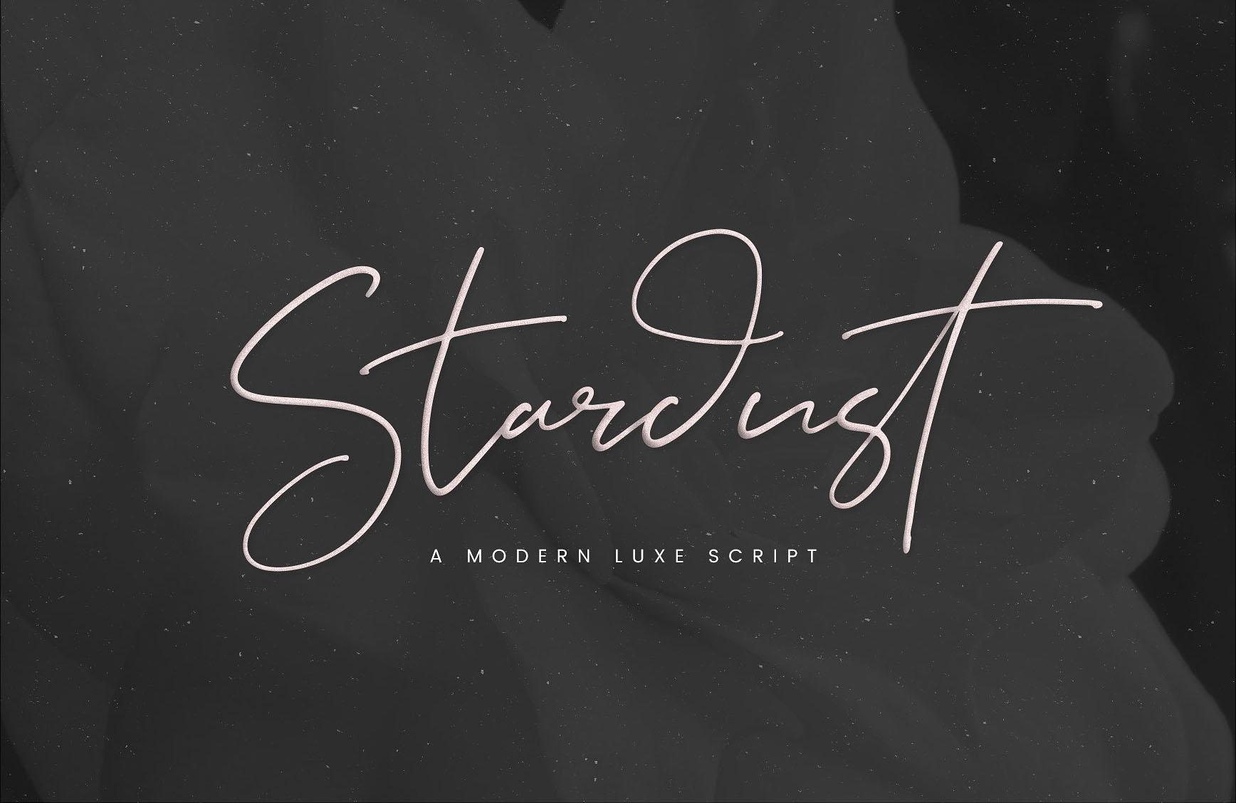 Stardust手写细签名艺术英文字体下载