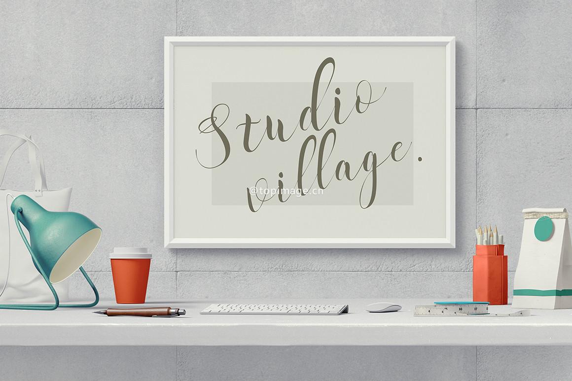 Starina欧式手写连笔装饰海报英文字体下载