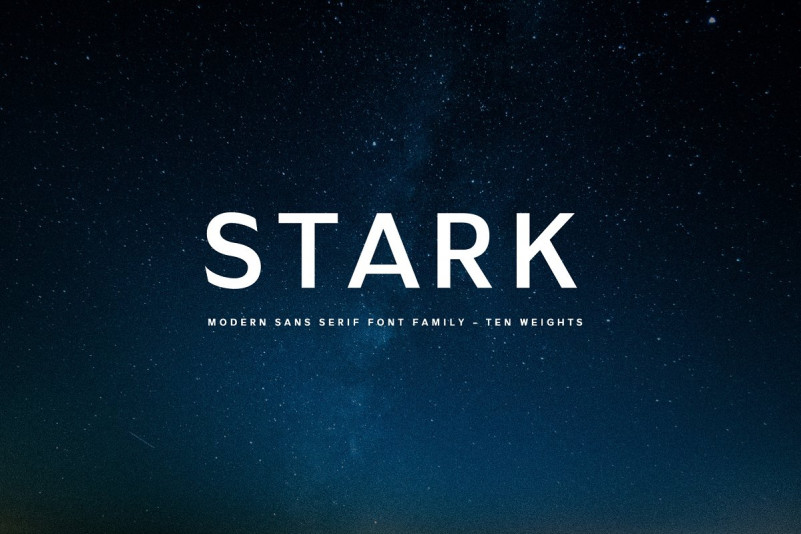 Stark现代无衬线简洁logo英文字体下载