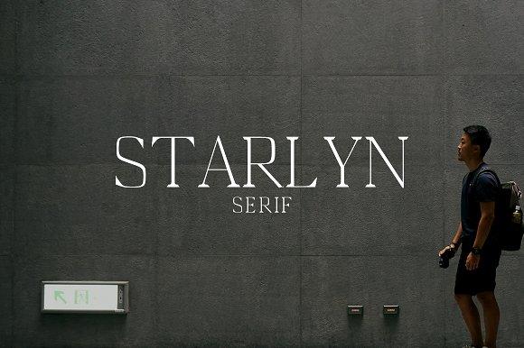 Starlyn现代衬线简洁logo英文字体下载