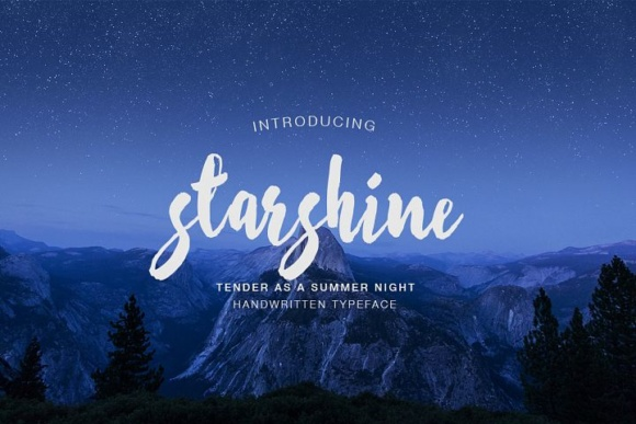 Starshine电影游戏手写连笔海报英文字体下载
