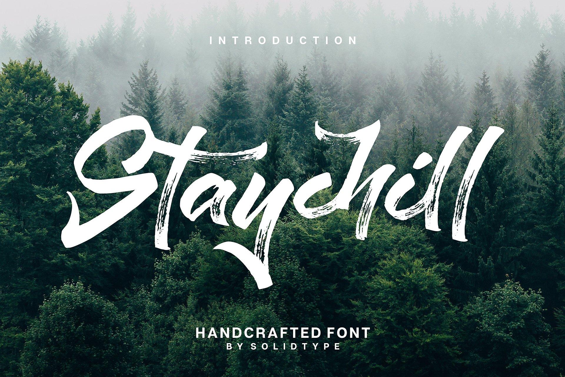 StayChill个性摄影海报手写英文字体下载