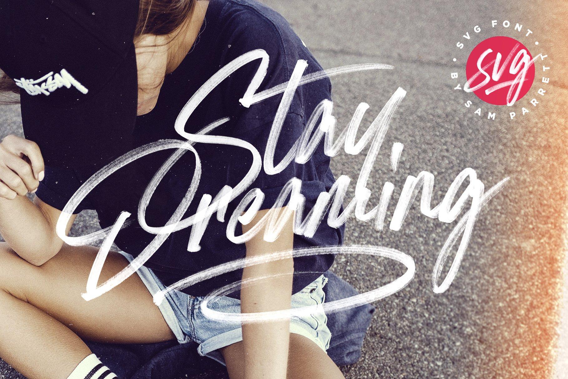 Stay Dreaming书法手写笔触大气潮牌好看的英文字体下载