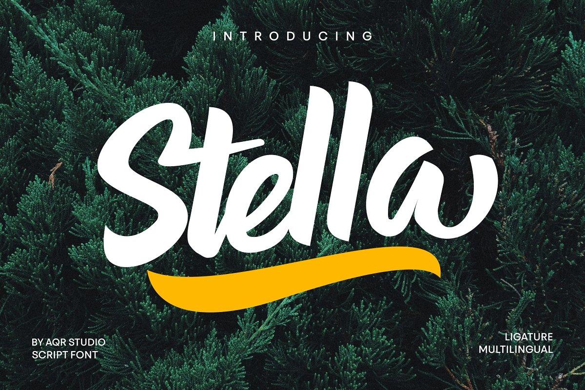 Stella手写卡通趣味英文字体下载