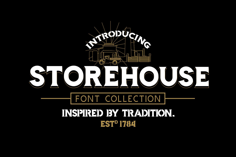 Storehouse创意衬线时尚logo设计英文字体下载